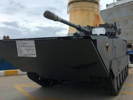 รถถังคันใหม่ของกองทัพเรือ? กองทัพเรือรับมอบยานเกราะจู่โจมสะเทินน้ำสะเทินบก VN-16