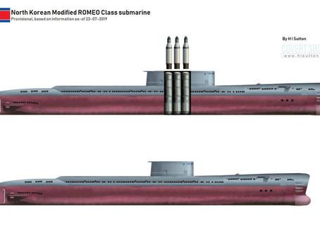"""เรือดำน้ำลำใหม่ของ """"เกาหลีเหนือ"""" สามารถบรรจุ ขีปนาวุธทิ้งตัวติดเรือดำน้ำได้ถึง 3 ลูก"""