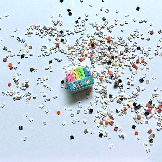 Goma de materias pequeñas