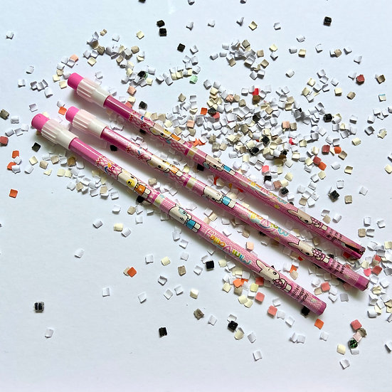 Set de lápices 3 pzas - animalitos y muñequitas