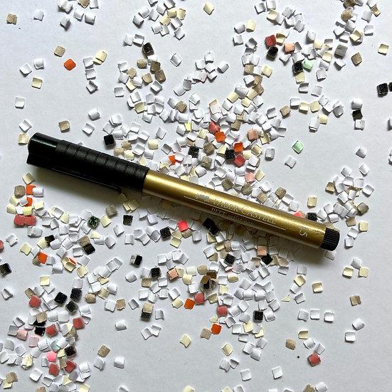 Faber Castell Pitt Artist Pen, oro.