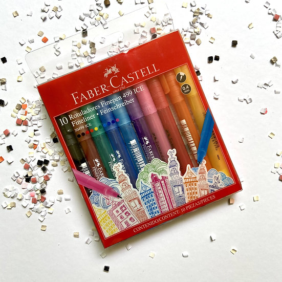 Faber Castell Rotuladores Fineliner 499 ICE 10 pzas.
