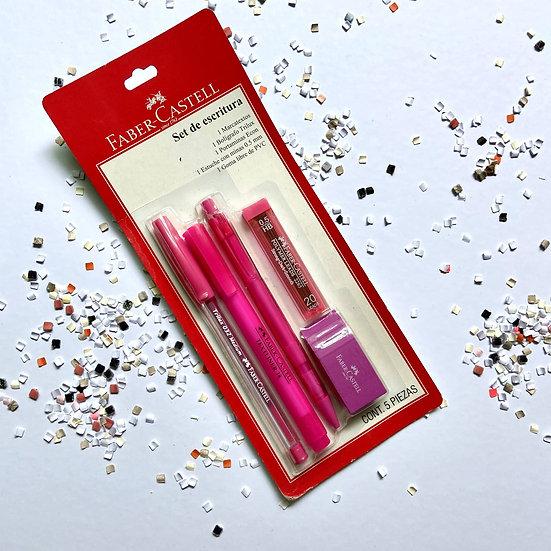 Faber Castell Set de Escritura Rosa