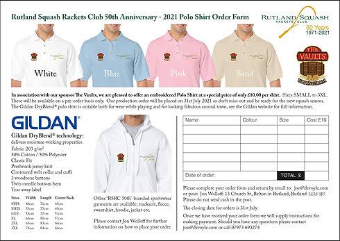 RSRC Club Kit Order Form