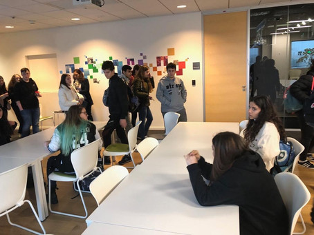 ביקור בהייטק - מועצת תלמידי תיכון אחד העם