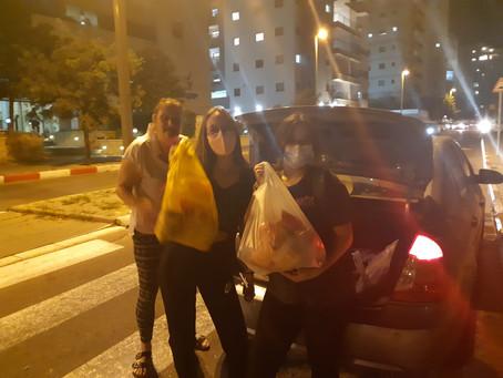 איסוף מזון למשפחות - דווקא בקורונה!