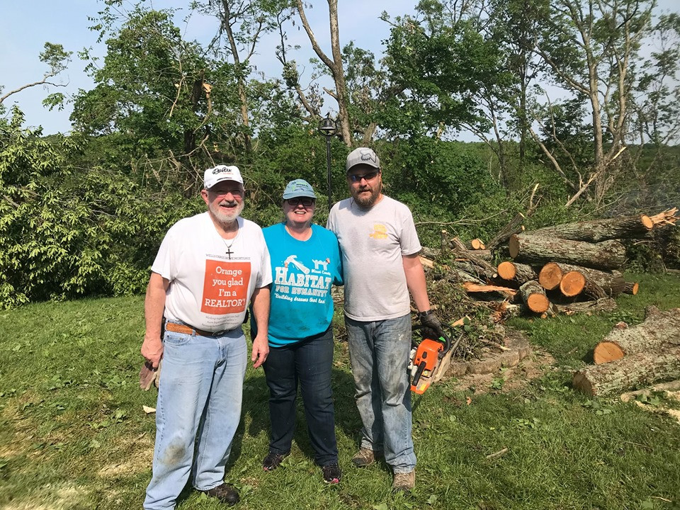 Dungan Homes Volunteering in the Wake of the Dayton Area Tornadoes