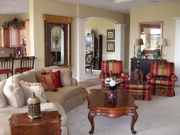 Dungan Custom Homes - Oak and Bronze Great Room