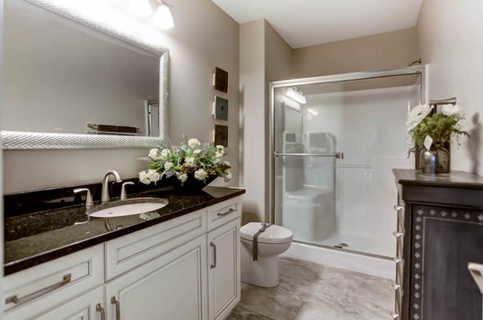Dungan Custom Homes - Classy Guest Bathroom