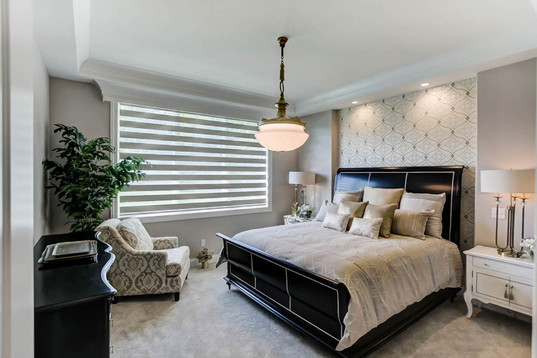 Dungan Custom Homes - Silver and Gray Master Bedroom