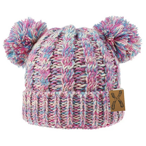 Double Pom Knitted Winter Hat
