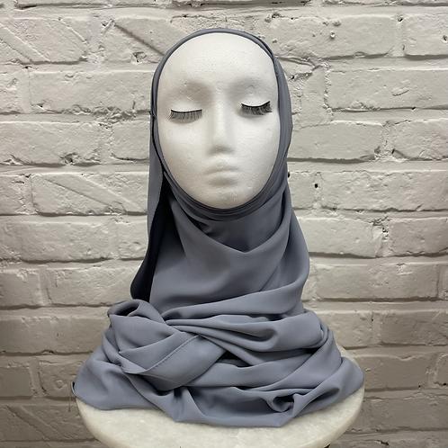 Hijab à enfiler - Gris