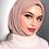 Thumbnail: Maxi Hijab à franges Taupe