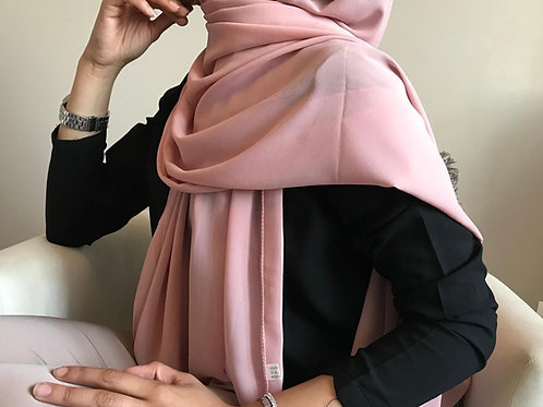 Hijab Mousseline Rose *1m70*