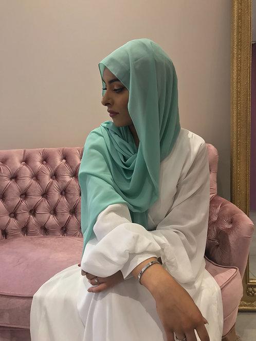 Maxi Hijab Vert d'eau *1m70*