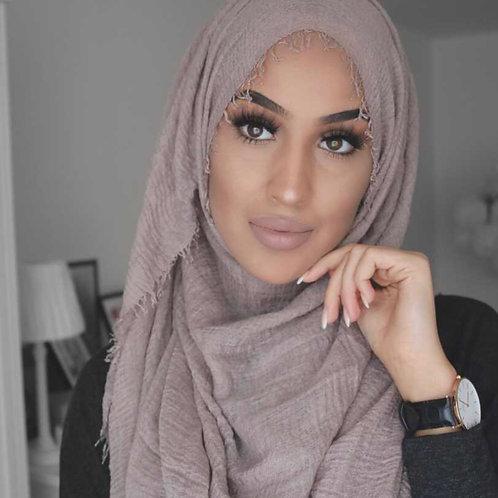 Maxi Hijab à franges Taupe