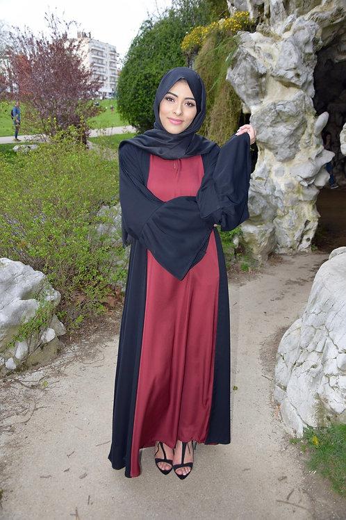 Abaya / Sous robe Nidha - Bordeaux