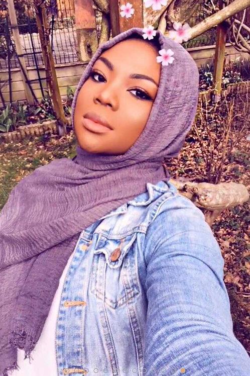 Maxi Hijab à franges Violet