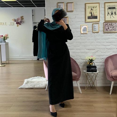 Abaya / Sous robe BASIC - Noir