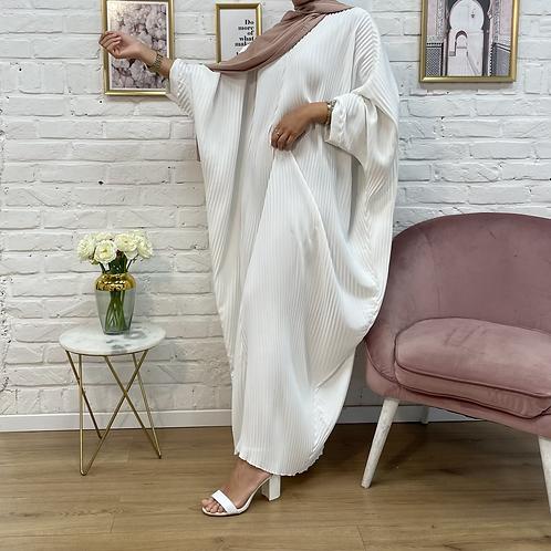 Abaya FARASHA plissé - Blanc