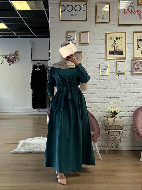 Abaya / Sous robe BASIC - Vert Bleu