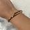 Thumbnail: Bracelet CLOU Rose Gold-strass