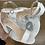 Thumbnail: Sandale à talon CROCO Blanc