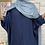 Thumbnail: Abaya FARASHA plissé - Bleu Marine