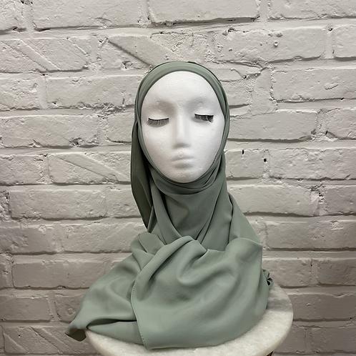 Hijab à enfiler - Vert Pastel