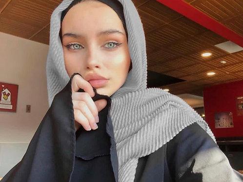 Maxi Hijab Plissé Gris Souris