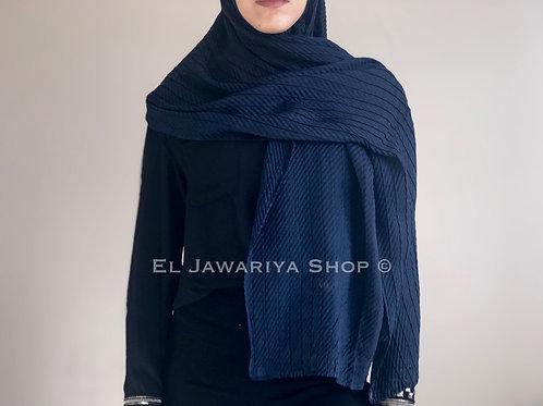 Hijab Gaufré Bleu marine