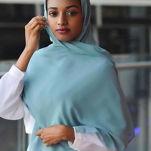 Maxi Hijab Bleu Canard *1m70*