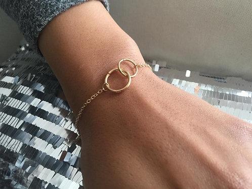 Bracelet Double✖️Round Or