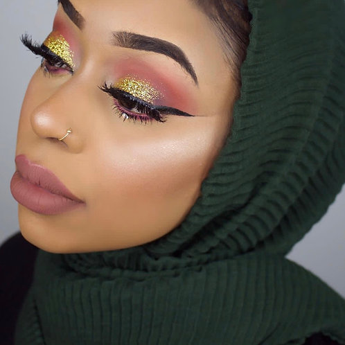 Maxi Hijab Plissé Vert