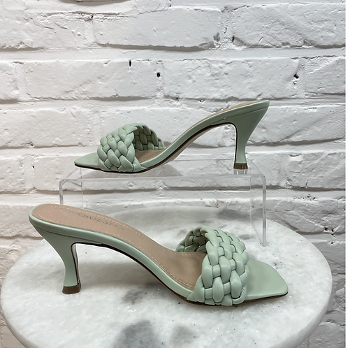 Sandale à talon TRESSYA Vert Pastel