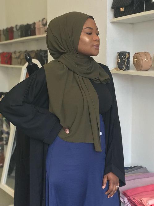 Maxi Hijab Vert Kaki *1m70*