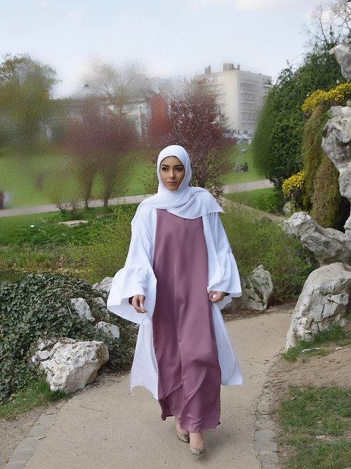 Abaya / Sous robe Nidha - Vieux rose