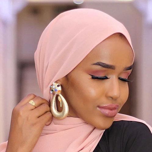 Hijab Mousseline Rose Claire *1m70*