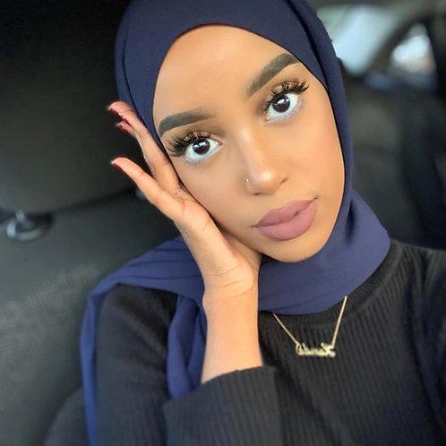 Maxi Hijab Bleu Marine *1m70*