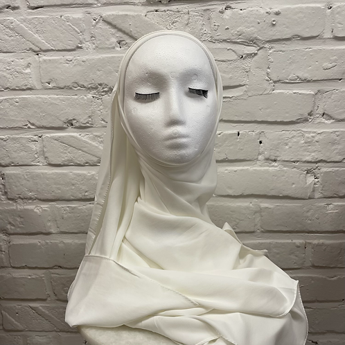 Hijab à enfiler - Ivoire