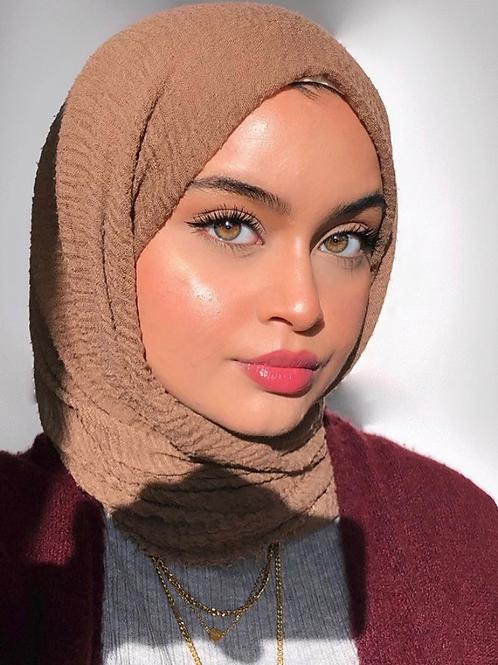 Maxi Hijab à franges Marron choco