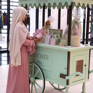 Maxi Hijab Mousseline Beige rosé