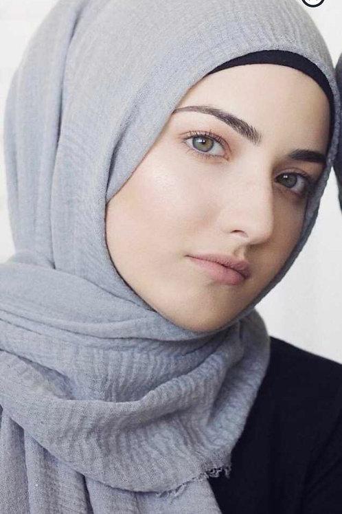 Maxi Hijab à franges Gris souris