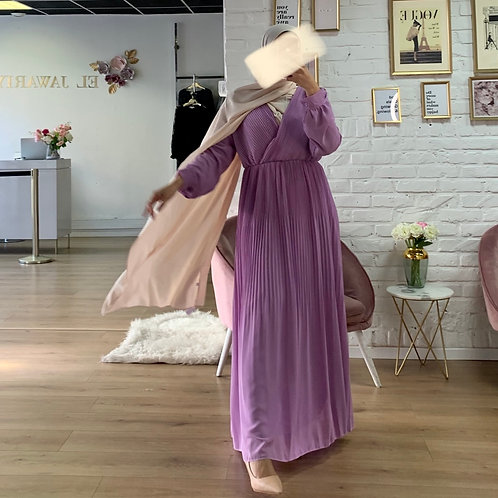 Robe Plissé - Lila