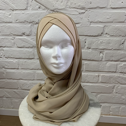 Hijab Beige Sable