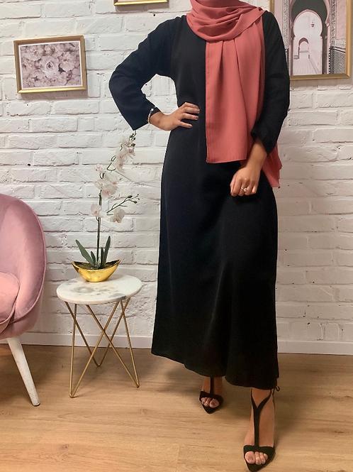 Abaya / Sous robe Nidha - Noir