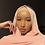 Thumbnail: Hijab Mousseline Rose Claire *1m70*