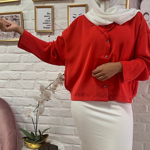 Blouse YAS - Rouge Coquelicot