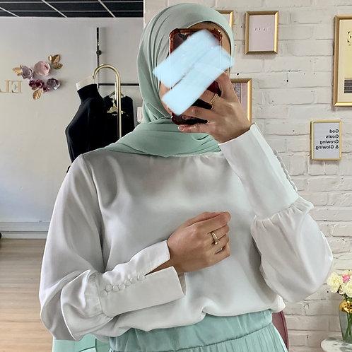 Hijab mousseline vert d'eau