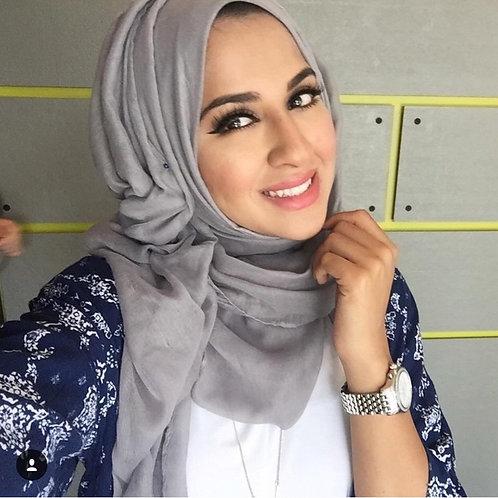 Maxi Hijab Basic Gris perle